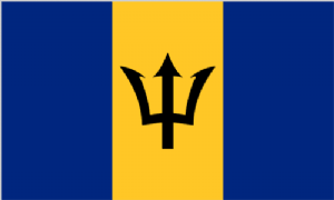 Barbados Large Country Flag - 3' x 2'.